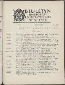 Biuletyn Biblioteki Uniwersyteckiej w Wilnie 1937/1938 nr 20