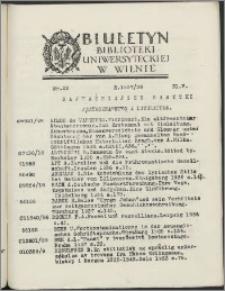 Biuletyn Biblioteki Uniwersyteckiej w Wilnie 1937/1938 nr 22