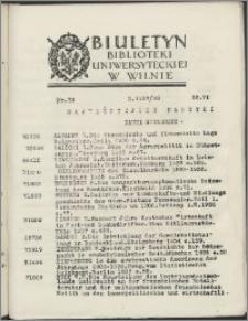 Biuletyn Biblioteki Uniwersyteckiej w Wilnie 1937/1938 nr 23