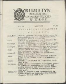 Biuletyn Biblioteki Uniwersyteckiej w Wilnie 1937/1938 nr 24