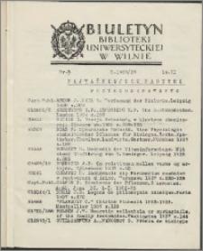 Biuletyn Biblioteki Uniwersyteckiej w Wilnie 1938/1939 nr 2