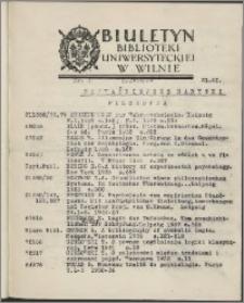 Biuletyn Biblioteki Uniwersyteckiej w Wilnie 1938/1939 nr 3