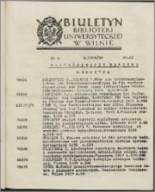 Biuletyn Biblioteki Uniwersyteckiej w Wilnie 1938/1939 nr 4