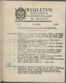 Biuletyn Biblioteki Uniwersyteckiej w Wilnie 1938/1939 nr 6
