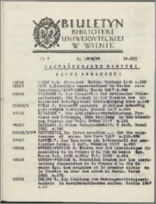 Biuletyn Biblioteki Uniwersyteckiej w Wilnie 1938/1939 nr 7