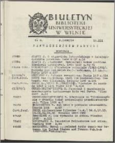 Biuletyn Biblioteki Uniwersyteckiej w Wilnie 1938/1939 nr 8