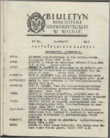 Biuletyn Biblioteki Uniwersyteckiej w Wilnie 1938/1939 nr 10