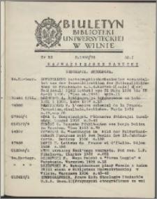 Biuletyn Biblioteki Uniwersyteckiej w Wilnie 1938/1939 nr 12