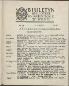 Biuletyn Biblioteki Uniwersyteckiej w Wilnie 1938/1939 nr 15