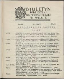 Biuletyn Biblioteki Uniwersyteckiej w Wilnie 1938/1939 nr 16