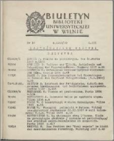 Biuletyn Biblioteki Uniwersyteckiej w Wilnie 1938/1939 nr 17