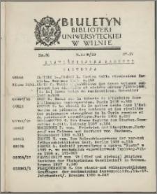 Biuletyn Biblioteki Uniwersyteckiej w Wilnie 1938/1939 nr 20