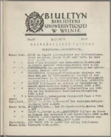 Biuletyn Biblioteki Uniwersyteckiej w Wilnie 1938/1939 nr 22