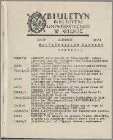 Biuletyn Biblioteki Uniwersyteckiej w Wilnie 1938/1939 nr 25