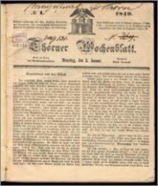 Thorner Wochenblatt 1849, No. 1