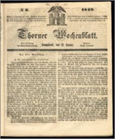 Thorner Wochenblatt 1849, No. 6 + Beilage