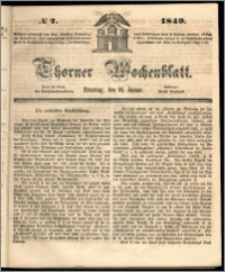 Thorner Wochenblatt 1849, No. 7