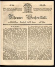 Thorner Wochenblatt 1849, No. 9 + Beilage, Wahlprogramm