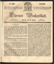 Thorner Wochenblatt 1849, No. 10