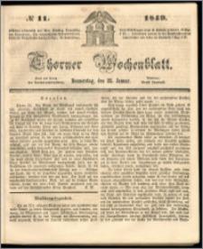 Thorner Wochenblatt 1849, No. 11