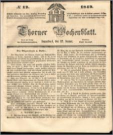 Thorner Wochenblatt 1849, No. 12 + Beilage