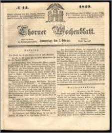 Thorner Wochenblatt 1849, No. 14