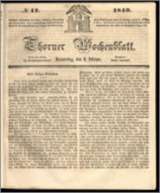Thorner Wochenblatt 1849, No. 17 + Beilage