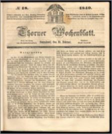 Thorner Wochenblatt 1849, No. 18 + Beilage