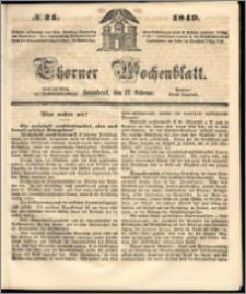 Thorner Wochenblatt 1849, No. 21
