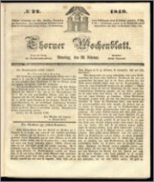 Thorner Wochenblatt 1849, No. 22