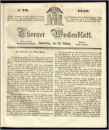 Thorner Wochenblatt 1849, No. 23 + Beilage