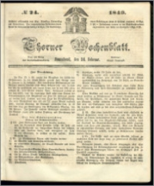 Thorner Wochenblatt 1849, No. 24