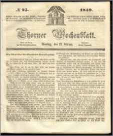 Thorner Wochenblatt 1849, No. 25 + Beilage