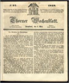 Thorner Wochenblatt 1849, No. 27 + Beilage