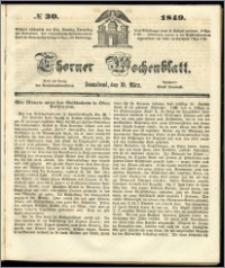 Thorner Wochenblatt 1849, No. 30 + Beilage