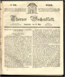 Thorner Wochenblatt 1849, No. 33 + Beilage