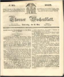 Thorner Wochenblatt 1849, No. 35