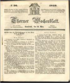 Thorner Wochenblatt 1849, No. 36 + Beilage