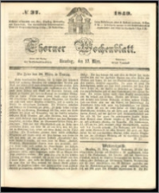 Thorner Wochenblatt 1849, No. 37