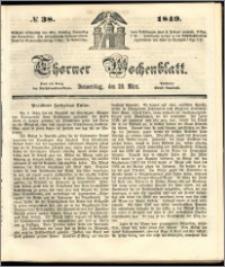 Thorner Wochenblatt 1849, No. 38