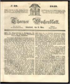 Thorner Wochenblatt 1849, No. 39 + Beilage