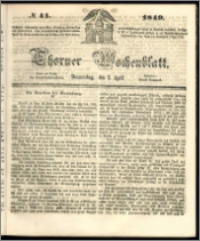 Thorner Wochenblatt 1849, No. 41
