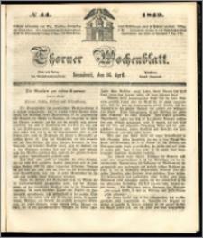 Thorner Wochenblatt 1849, No. 44 + Beilage