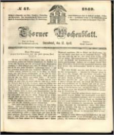 Thorner Wochenblatt 1849, No. 47 + Beilage