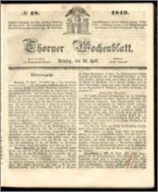 Thorner Wochenblatt 1849, No. 48