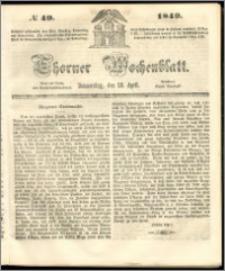 Thorner Wochenblatt 1849, No. 49 + Beilage