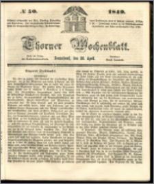 Thorner Wochenblatt 1849, No. 50 + Beilage