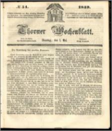 Thorner Wochenblatt 1849, No. 51 + Beilage