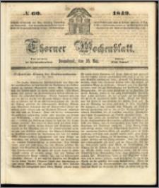 Thorner Wochenblatt 1849, No. 60 + Beilage, Extra Beilage