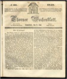 Thorner Wochenblatt 1849, No. 62 + Beilage
